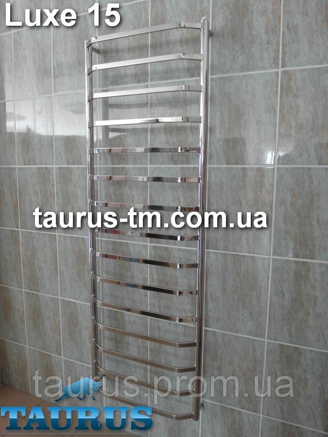 Высокий электрический и водяной полотенцесушитель Luxe 15 / шириной 45 см.