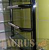 Добротный высокий полотенцесушитель н/ж в ванную комнату Standart 12/1250х500. Трапеция перекладина, фото 2