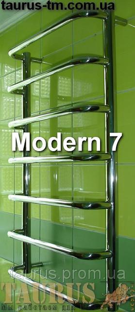 Водяной + электрический полотенцесушитель Modern  7 / Высота 750х  Ширина 450 мм.