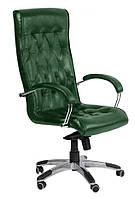 Кресло Бристоль HB Хром Кожа Люкс комбинированная Авокадо, MultiBlock