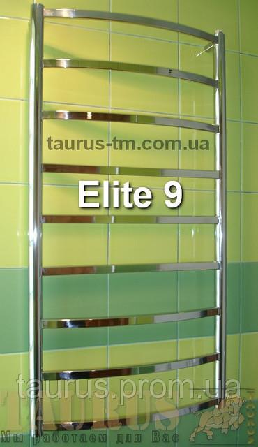 Универсальный н/ж полотенцесушитель Elite 9/ 950x450 мм с дугообразной перемычкой. Электро. 1/2