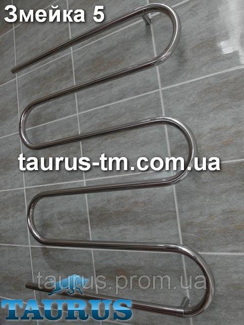 Широкая сушилка для полотенец Змейка на 5 колен, высотой 920 мм и шириной 700 мм