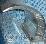 Водопад в бассейн -  массажер Classic 450 мм. Нержавеющая полированная сталь.