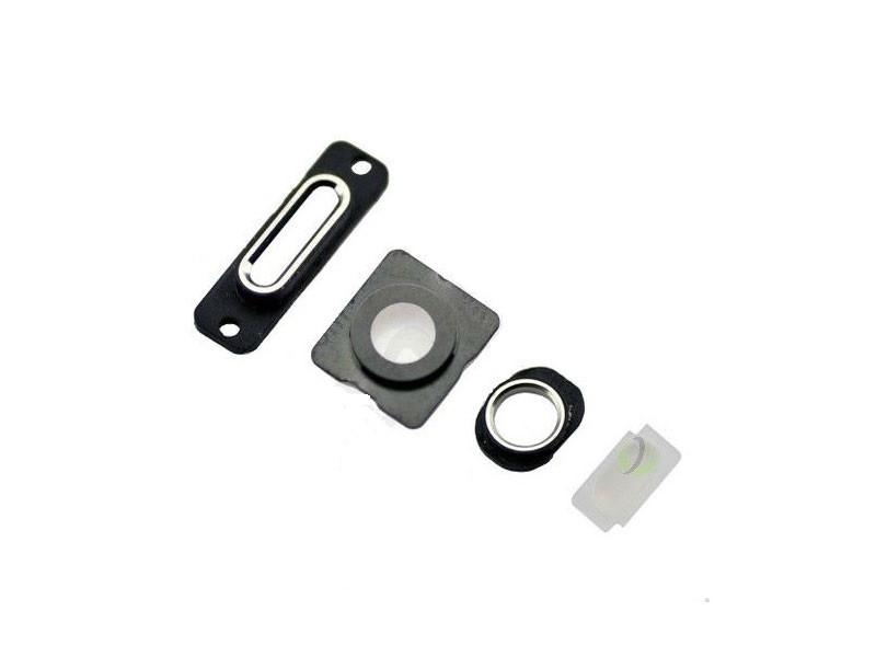 Набор для внешних колец iPhone 5 (4шт) на зарядку и наушники + стекла