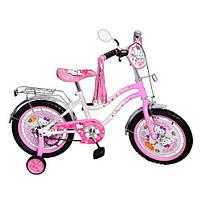 """Детский велосипед Hello Kitty (Хелло Китти) 14"""", черные колеса."""