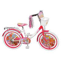 "Велосипед детский Winx 14"", белые колеса."