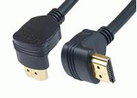 Видео кабель угловой HDMI-HDMI 2 ферит 3 м (ГГ) CV-1239