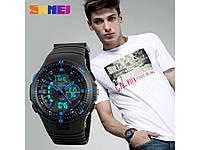 Электронные часы со стрелками Skmei 1198. Яркая подсветка. Отличное качество. Доступная цена. Код: КГ920