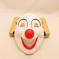 Забавный клоун Full Face Белые пластиковые Хэллоуина маски