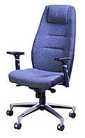 Кресло Элеганс НВ Papermoon-052 (голубой), боковины задник Неаполь-20 (черный)