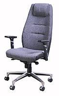 Кресло Элеганс НВ Papermoon-031 (серый) боковины задник Неаполь-20 (черный)