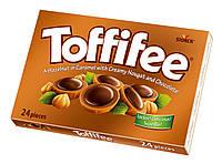 Конфеты Toffifee фундук в карамели с кремовой нугой и шоколадом 200 г