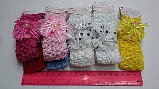 Детские повязки для волос, с цветочком.