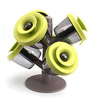 Органайзер (подставка) для специй с силиконовыми крышечками на кухню Spice Rack