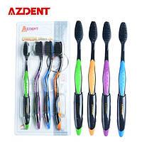 Бамбуковые угольные зубные щетки Azdent 4 шт= 1 упаковка
