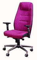 Кресло Элеганс НВ Пейпермун-014 (фиалковый) боковины задник Неаполь-20 чёрный