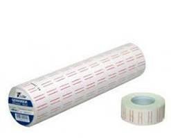 Ленты-ценники с красными полосами 12 мм