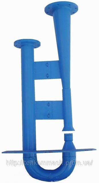 Гидроэлеватор dс40 dр80 для удаления осадка из водоприемных камер, песколовок и нефтеловушек