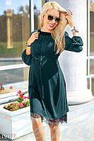 Шифоновое платье беременной (Зеленый)