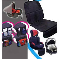 Защита сидения автомобиля с органайзером East Install NY-05.