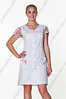 Халат ж Анжеліка 46-170 сорочечна білий-другий П 3\4