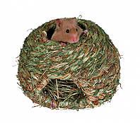 Гніздо Trixie Grass Nest для гризунів кругле, 16 см