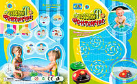 Игрушка для купания 381/382-u (72шт/3) 2 вида, батар. , свет, брызгалка, на планшетке 21*17см