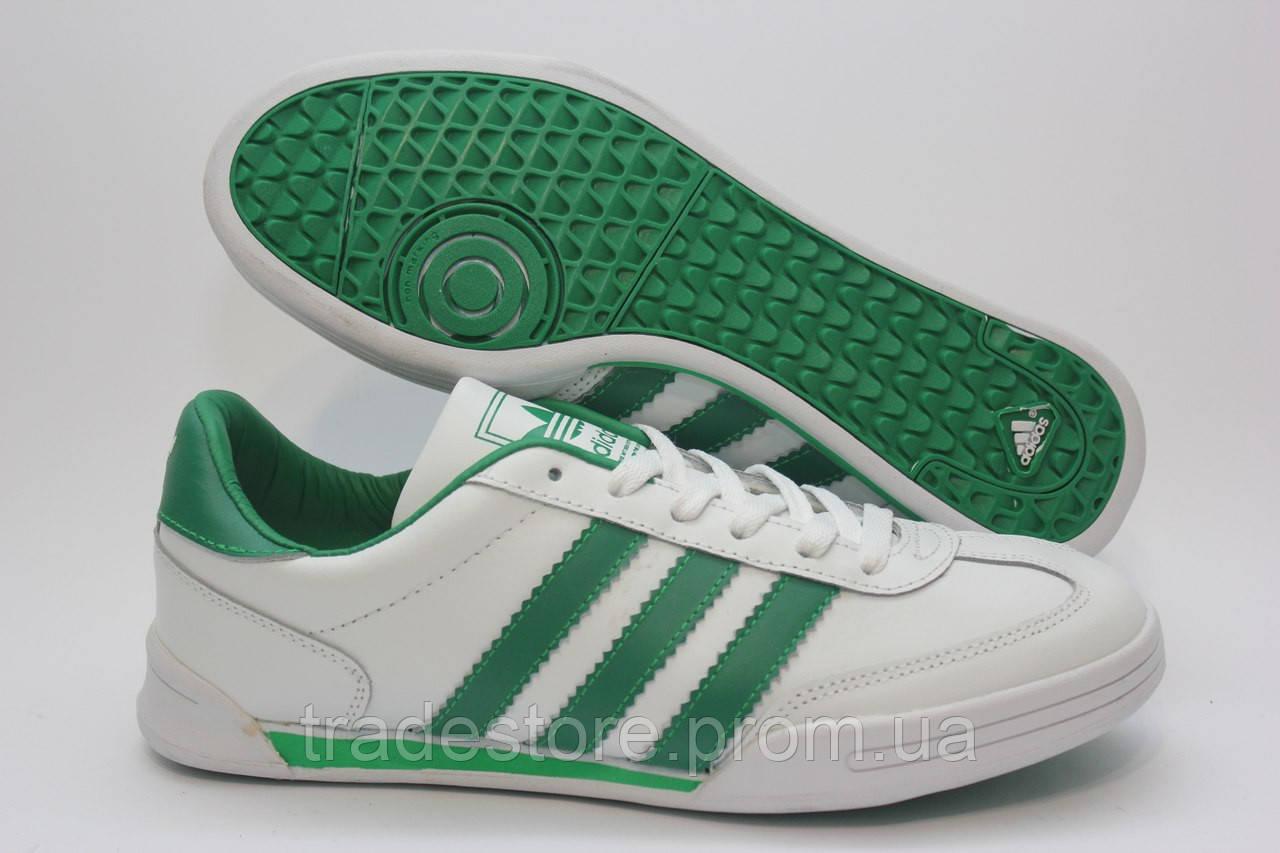 Стильные кроссовки Adidas бело зеленые