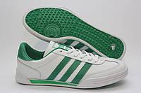 Стильные кроссовки Adidas бело зеленые, фото 1