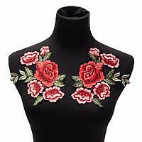 Стильные пришивные крупные аппликации нашивки для одежды набор роз