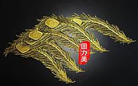 Крылья перья золотые нашивки наклейки для одежды термоапликации декор