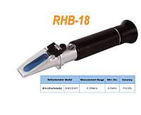 Портативный рефрактометр RHB-18ATC Brix (Сахароза от 0 до 18 %)
