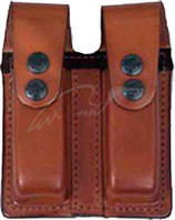 Подсумок Front Line FL 2104 для двух пистолетных магазинов. Материал - кожа. Цвет - коричневыйПодсумок Front Line FL 2104 для двух пистолетных