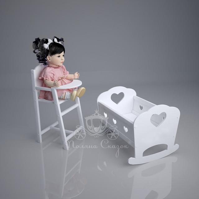 Кукольные кроватки и стульчики для кормления
