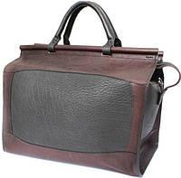 Мужской качественный дорожный саквояж из натуральной кожи Mykhail Ikhtyar, Ikhtyar-4174 коричневый