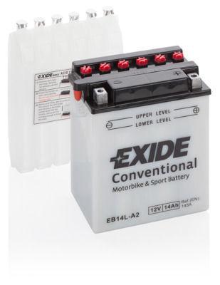 Аккумулятор мото EXIDE 12V 14AH 145A YB14L-A2/EB14L-A2 [135X91X167]