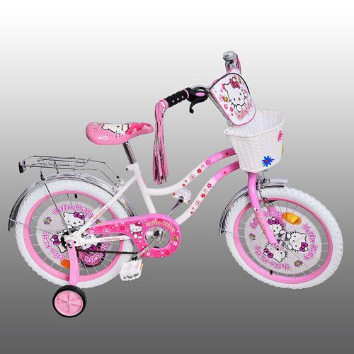 "Детский велосипед Hello Kitty (Хелло Китти) 16"", белые колеса."