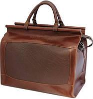 Мужской надежный дорожный саквояж из натуральной кожи Mykhail Ikhtyar, Ikhtyar-4198 коричневый