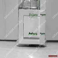 Вимикач 1-кл з підсв білий Asfora
