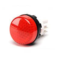S222NK Сигнальная арматура 22мм с закрытыми зажимами под винт лампа 220В красная