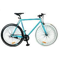 Велосипед 28д. G53JOLLY S700C-1 сталь.рама 53см, алюм. СB, трек.кол. 700C*23C, двойн.обод, мята