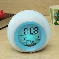 Будильник ночник со звуками природы календарем и термометром