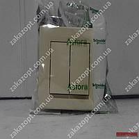 Вимикач 2-кл крем Asfora