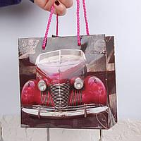 Подарочный пакет для чашки (Красная машина)