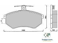 DBB 134.00 Тормозные колодки (пeредние, под невентилируемые диски) AUDI 443398151F