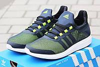 Кроссовки Adidas Bounce (черно салатовые) летние кроссовки адидас adidas