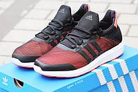 Кроссовки Adidas Bounce (черно бордовые) летние кроссовки адидас adidas