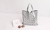 Женская дизайнерская сумка ВАО ВАО Issey Miyake\ стильная белая сумка