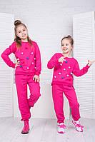 Спортивный костюм для девочки с пумпонами 122-140