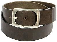 Мужской ремень из натуральной кожи под джинсы, Cramer & Co, Германия, 100147 темно коричневый, 4,5х122 см